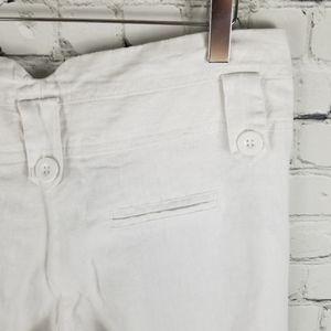 GLOW FASHIONS | light linen feel white pants